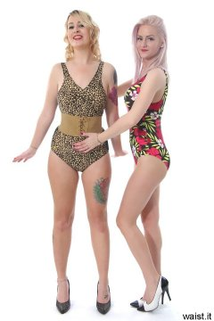 Sammy-Clare and DollyBird - deportment exercises in swimsuits