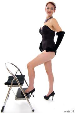 Heidi 2014-09-07 black Miraclesuit bodyshaper