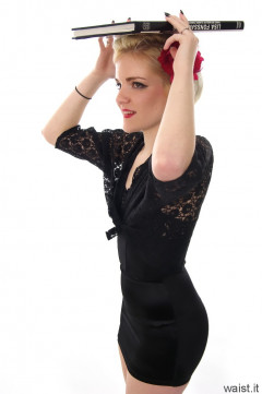 Abbie strepless longline bra top and skort