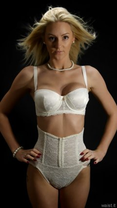 2015-06-03 DollyBird white bra and girdle