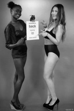 2015-07-13 Ajara and Laura retro fitness pinup shoot