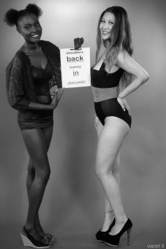 2015-07-13 Ajara and Laura retro fitness pinup shoot