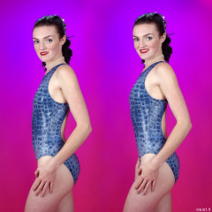 2015-10-24 Jodi Beth posture demo - even very skinny girls should remember to pull their tummies in!