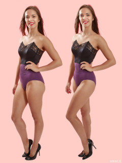2016-09-09 Danielle Morrison before and after - leg position - demonstration