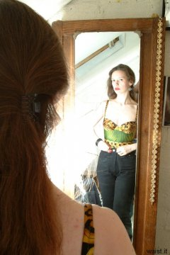 Chiara in mirror