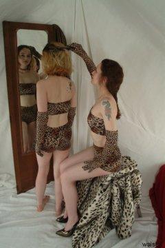 Annie modelling retro animal print bikini