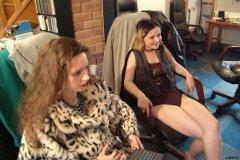 Chiara and Annie take a break