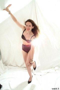 Chiara dances in her Dim Up's