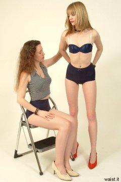 'Shoulders back!' Chiara corrects Carlie's posture