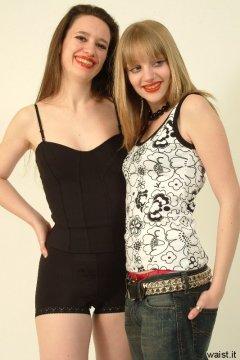 Chiara and Carlie, clubwear