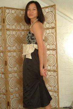 Vicki modelling her own bridesmaid dress