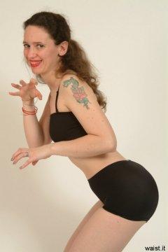 Chiara black lycra top and bottoms