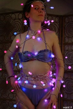 Chiara wrapped in LED's