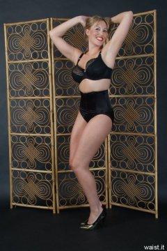 Nikki in high-waist Maidenform girdle