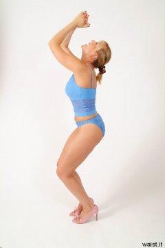Nikki pale blue crop top and bikini bottoms