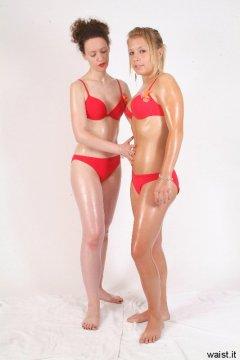 Chiara teaches Sara how to do a tummy lift