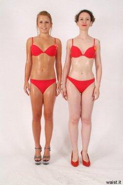 Sara and Chiara  full body rotation sequence