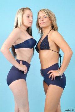 Jade and Sara retro fitness shoot