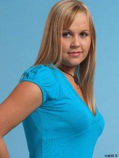 Heather in blue dress