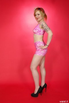 Photo from Miss Cristal Marie's first retro-fitness pin-up shoot, 2013-05-18