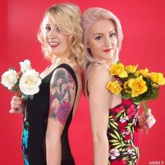 Sammy-Clare and DollyBird 2014-04-13 retro fitness shoot - swimsuit