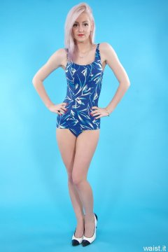 Sammy-Clare and DollyBird 2014-04-13 retro fitness shoot - swimsuit