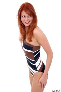 Charlotte - striped one-shoulder M&S one-piece swimsuit