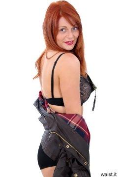 Charlotte - black bra and girdle