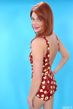 Charlotte - maroon one-piece tummy-control swimsuit