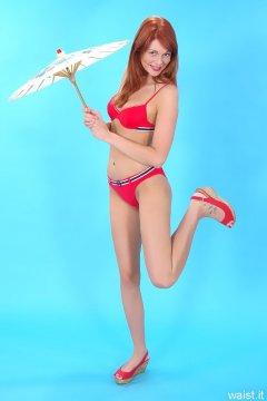 Charlotte - red bikini