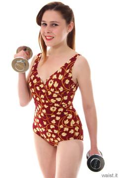 Lora in retro swimwear