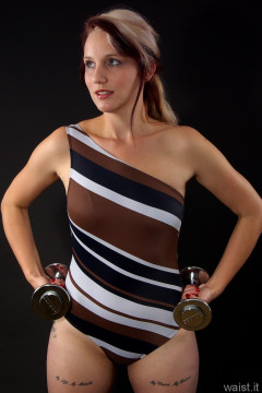 Heidi 2014-09-07 one shoulder swimsuit by M&S
