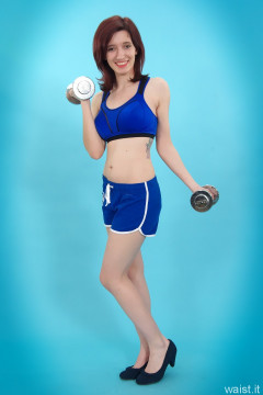 Dawsie blue kickboxing outfit