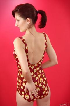 Dawsie retro style tummy-control swimsuit