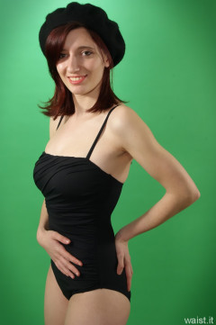 Dawsie black M&S retro style tummy-control one piece swimsuit
