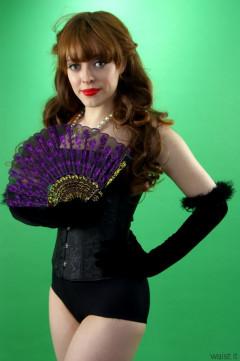 Kirsten-Ria black corset and girdle