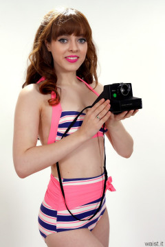 Kirsten-Ria retro two-piece swimsuit