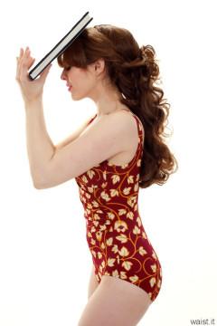 Kirsten-Ria vintage tummy control swimsuit