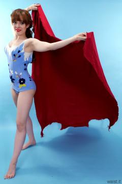 Kirsten-Ria blue 1960s Italian one-piece swimsuit