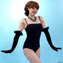 Kirsten-Ria black M&S tummy control swimsuit