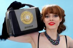 Kirsten-Ria headshot c/w Ferguson bakelite radio