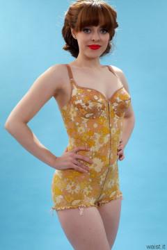 Kirsten-Ria Berlei flower power pantie corselette