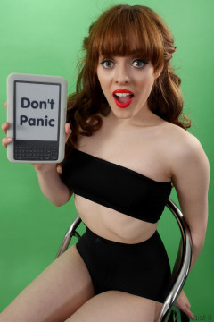 Kirsten-Ria black boobtube and black CHinese pantie girdle worn as hotpants