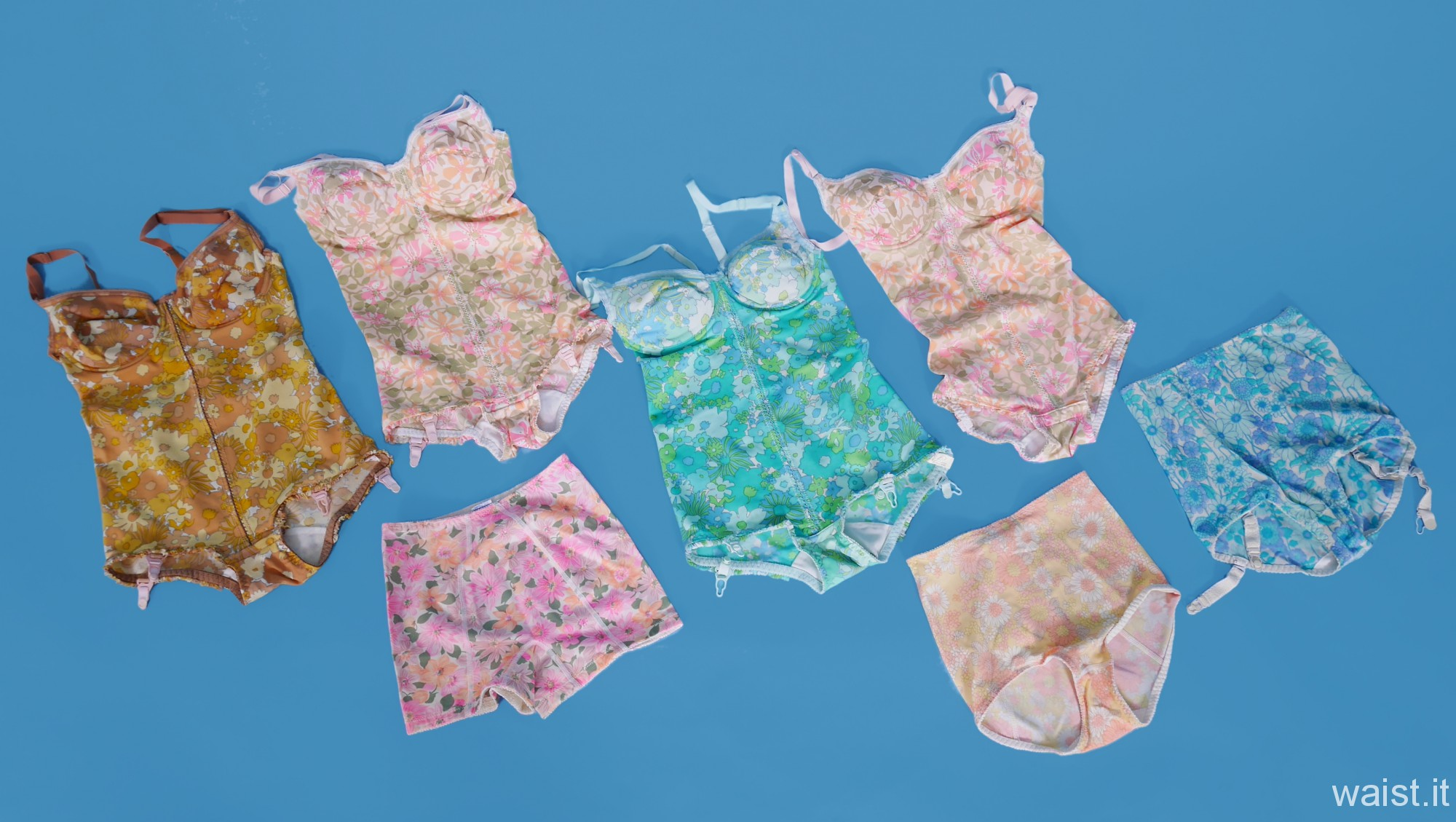 Flower power girdles and corselets