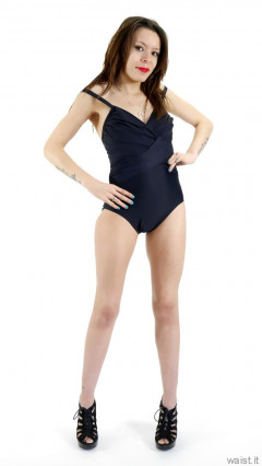 2015-03-21 LTidy - black M&S tummy control swimsuit