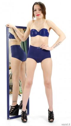 2015-03-21 LTidy - blue bra and girdle