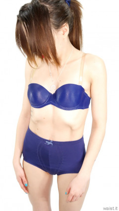 2015-03-21 LTidy - blue bra and girdle