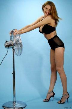 Alicia Legs black bra and girdle