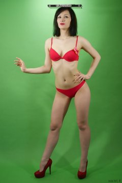 Olive Cartley red love bikini