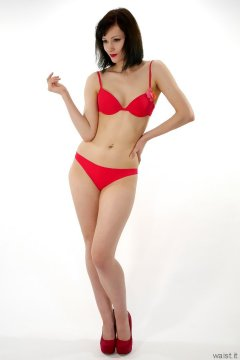 Olive Cartley red love bikini